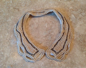 Pearl and cotton collar