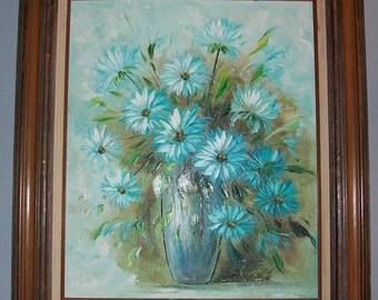 No. 22 Listing is Antique artwork original 28.5 x 30.5 signed still life