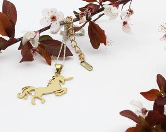 24k Gold dip Unicorn pendant