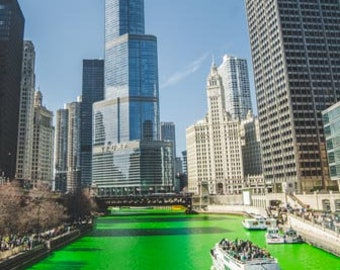 St. Patrick's Day in Chicago. Chicago, IL. Photography Print. Portrait. Wall Art. Home Decor. Urban.