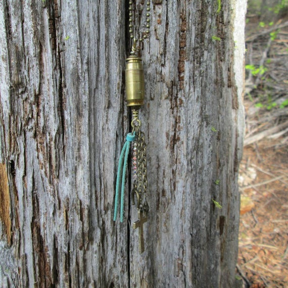 Bullet Casing Tassel Charm Necklace