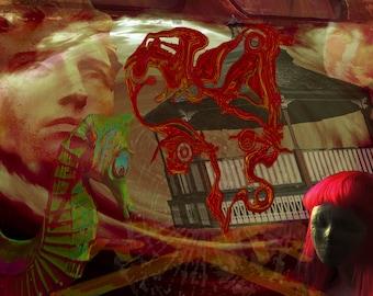 Gazebo Girl digital art print by Violet Tantrum
