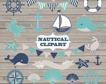 Nautical clipart, whale, sea, clipart, banner, sailboats, bunting, nautical wedding, wood, rustic