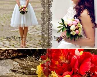 Short wedding dress etsy custom short wedding dress knee length wedding dresses short boho wedding dresses bohemian junglespirit Gallery