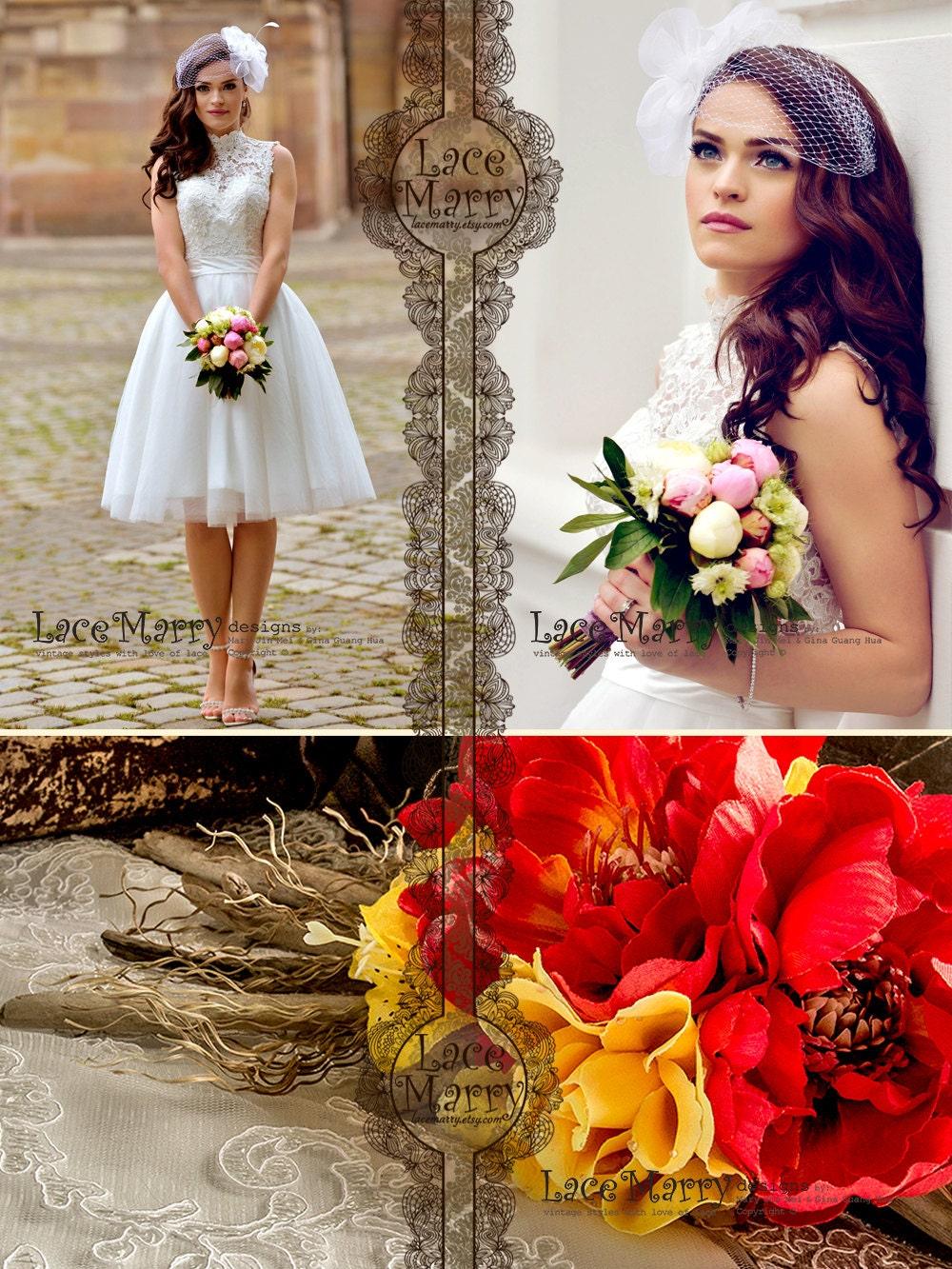 Custom Short Wedding Dress Knee Length Wedding Dresses Short