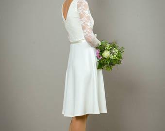 """Hochzeitskleid """"Tiffany"""" mit Tellerrock , in cremeweiss"""