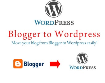 Blogger to Wordpress migration, move your blog to wordpress, Move your blog