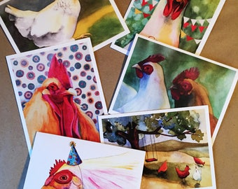 Assorted Chicken Greeting Cards