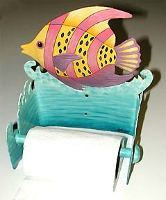 Exceptionnel Description. Metal Art, Bathroom Accessories   Toilet Paper Holder   Tropical  Fish ...