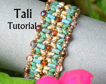 Tali Superduo Rulla Beadwork Bracelet PDF Tutorial