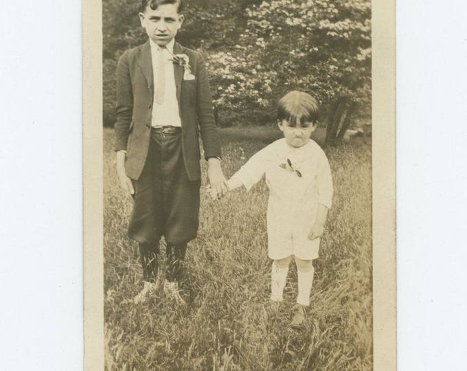 Vintage Snapshot Photo: Brothers, c1920s (76585)