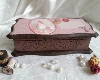 wood jewelry box-personalized jewelry box-ornaments vintage-Address box-Wood gifts for women-Drawer organiser-Wood jewelry box-Storage