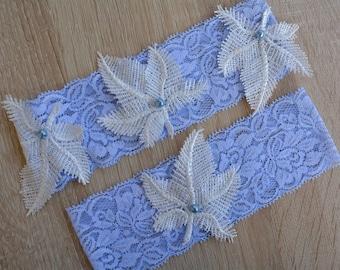 Garter, Wedding Garter Blue, Light Blue Garter, Lace Wedding Garter, Bridal Garter, Something Blue, Wedding Gift, Handmade Garter, Garters