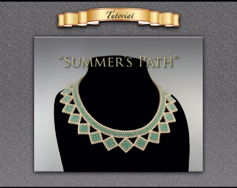 "Tutorial/pattern for ""Summer's Path"" with matching earrings"
