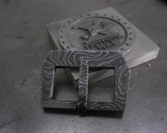 Vintage Damascus Watch Buckle 24mm | Strap | Leather | Rubber |Steel | Sewn in | NEW (24a)