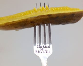 Handstamped fork, fun gift, gift for foodie