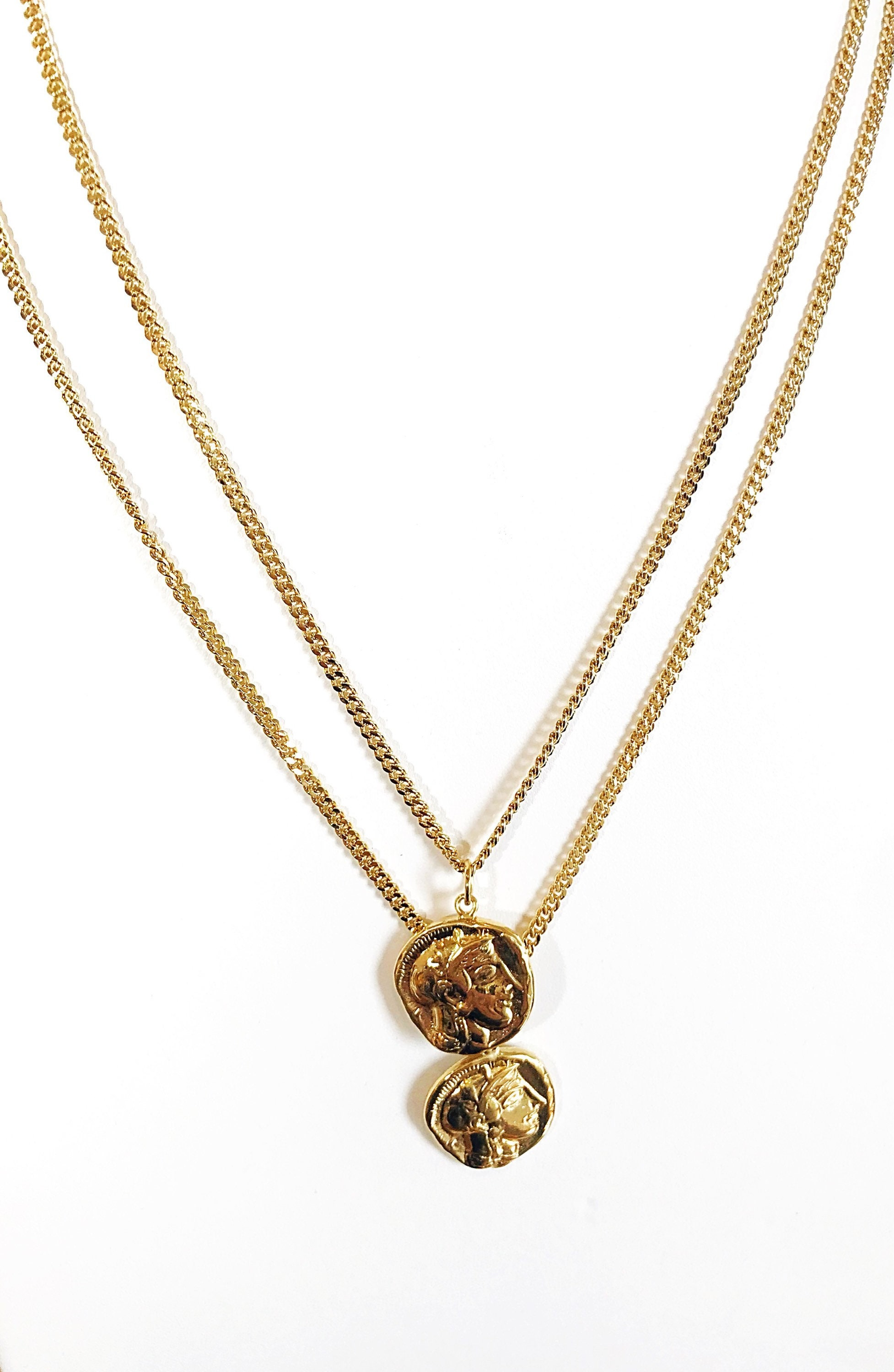 operandi prodigiam large medallion chain lariat tone moda necklace gold by loading close fallon