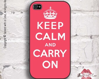 Keep Calm and Carry On - iPhone 4/4S 5/5S/5C/6/6+ and now iPhone 7 cases!! And Samsung Galaxy S3/S4/S5/S6/S7