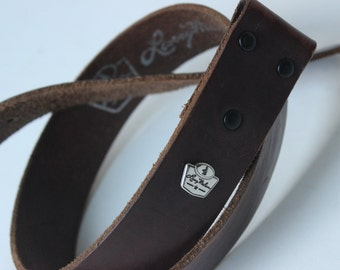 Larry Mahan Leather Brown Belt Replacement Strap Double Snap Size 32 Vintage Cowboy Belt Vintage Western Belt Full Grain Cowhide Mens Belt