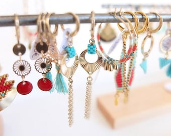 Peacok, earrings, feather, golg gilded findings, miyuki beads