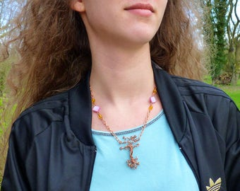 Crooked tree necklace