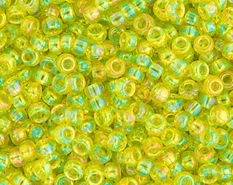 20 Grams Japanese Miyuki 11/0 Seed Beads - Chartreuse Transparent AB - 2mm (11-0258)