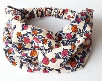 Crepe flower headband women hair turban headband