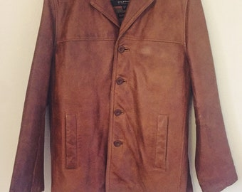 Vintage Men's Leather Jacket - SZ S