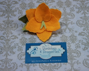 Birth Flower Hair Clip - August Gladiola