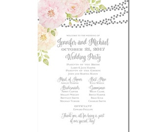 Printable Wedding Program Sign, Printable Program Sign, Wedding Welcome Sign, Welcome Program Sign, Ceremony Sign, Wedding Party Sign #CL163