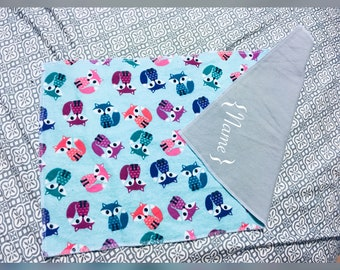 Personalized burp cloth, baby shower gift.