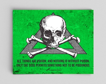 Toxicology Poster Science Poster Paracelsus Quote Forensics Biochemistry Gifts for Teachers Gifts Science Gifts Nerdy Home Decor Gifts Nerdy