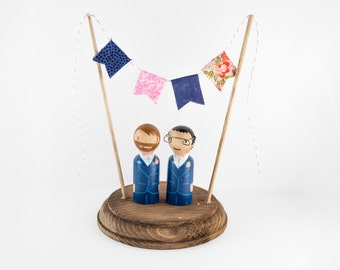Mr and Mr Cake Topper - Gay Cake Topper - groom and groom cake topper - same sex cake topper - gay wedding cake topper - lgbt cake topper