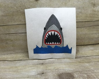 Shark Mouth EMbroidery Design, Jaws Embroidery Design