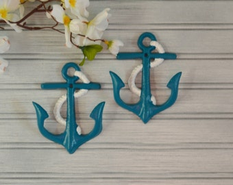 Set of Two Anchor Hooks. Anchor Hook. Anchor Decor. Beach Decor. Towel Hook. Bathroom Decor. Kitchen Decor. Nautical Decor. Coastal Decor.