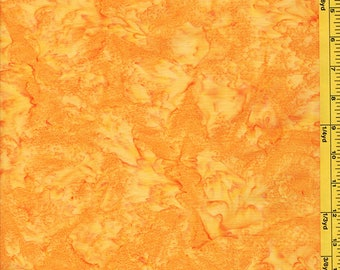 Batik Fabric - Sun Drenched Bali - 07088-28 - Bright Orange Yellow