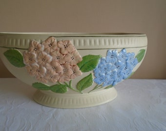 brentleigh ware chalk ware hydrangea decorated planter
