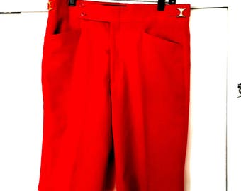 60's Shorts - Red Polyester