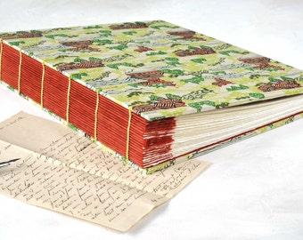 Scrapbook Album, Contemporary Album, Guestbook, Exposed Spine Book, Travel Book, Large Photo Album, Hand bound Coptic Stitch, Made to Order