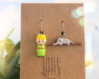 The Little Prince Inspired Earrings