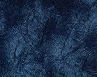MINKY - Navy Blue Solid Bella from Michael Miller Snuggle Minky Collection