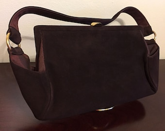 Vintage 1950s ROSENFELD ORIGINAL handbag in Dark Brown