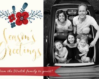 Photo Christmas Card - Digital file