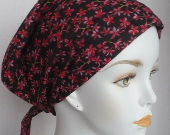 Red Floral Classic Cancer Hat Chemo Scarves Head Wrap Hair Loss Turban Headcovering Bad Hair Day Hat
