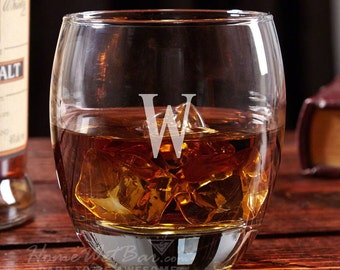 Midtown Personalized Whiskey Glass - DOF Glasses, Whiskey Glasses, Whiskey Gifts, Custom, Etched Whiskey Glass
