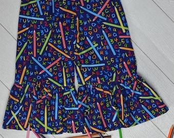 Back to School Ruffle Pants 4t
