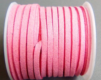 1 m pink 3mm suede cord