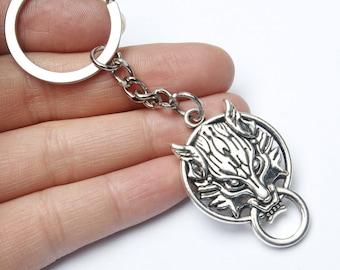 Wolf Keychain, Wolf Key Chain, Wolf Charm, Wolf Pendant, Howling Wolf Keychain, Howling Wolf Charm, Wolf Gifts, Wolf Lover, Werewolf Charm