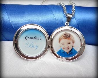 Grandma's Boy Locket Necklace
