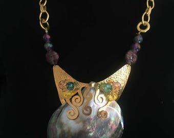 Handmade Purple Seashell